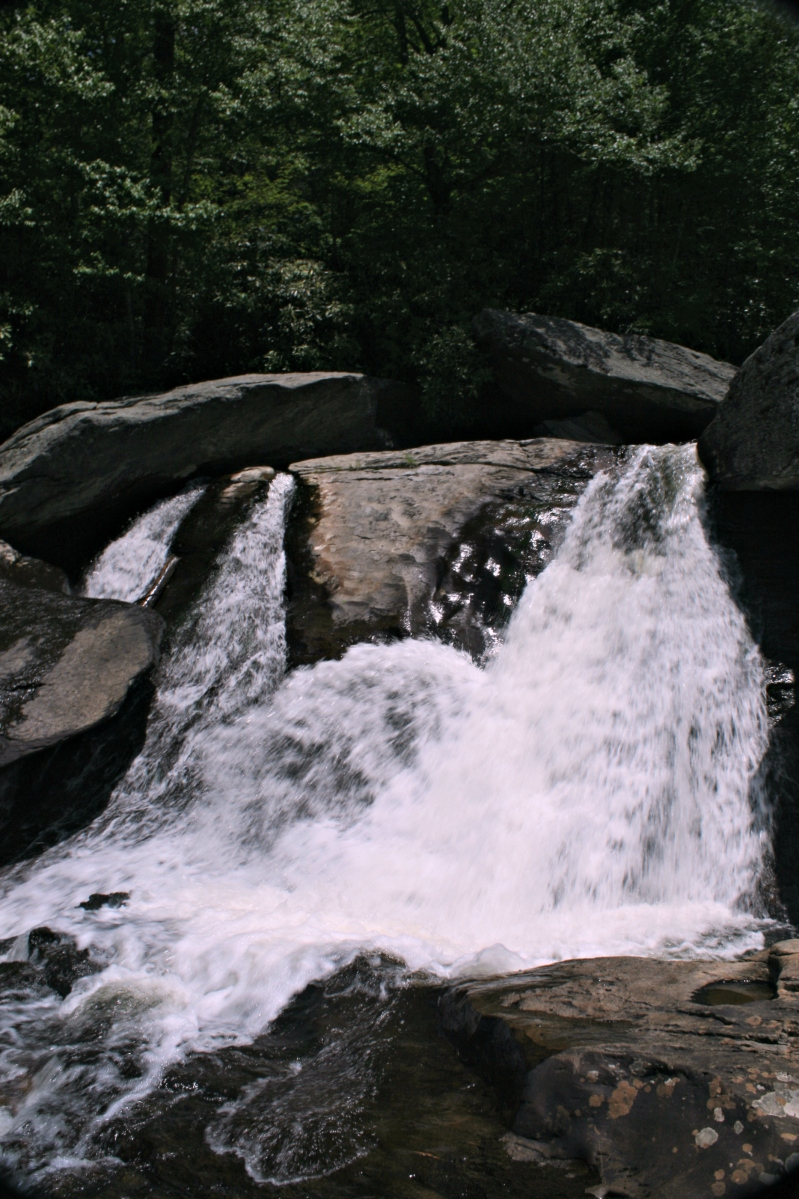 Hiking Trails & Swimming Holes- HEBRON ROCK COLONY FALLS