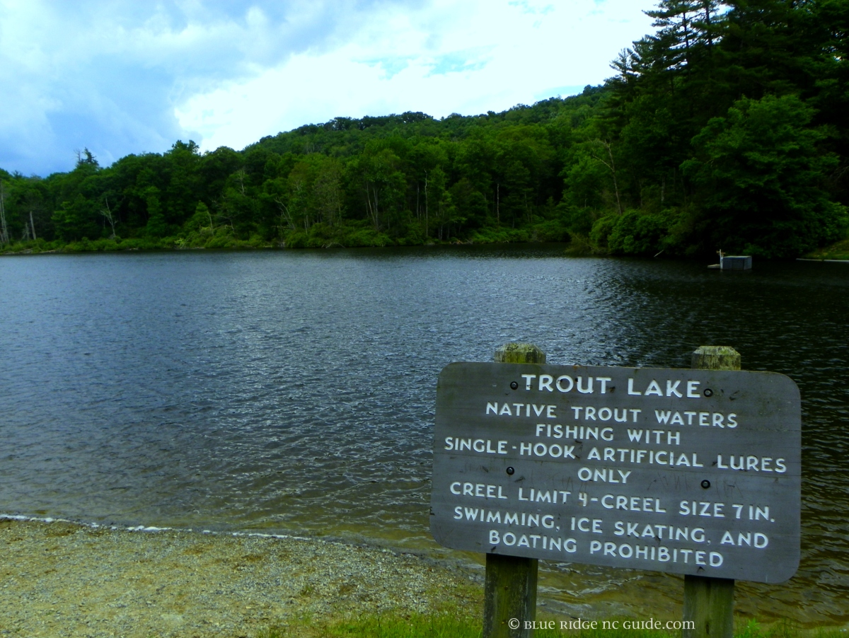 Hiking Trails & Fishing Spots- TROUT LAKE, Blowing Rock