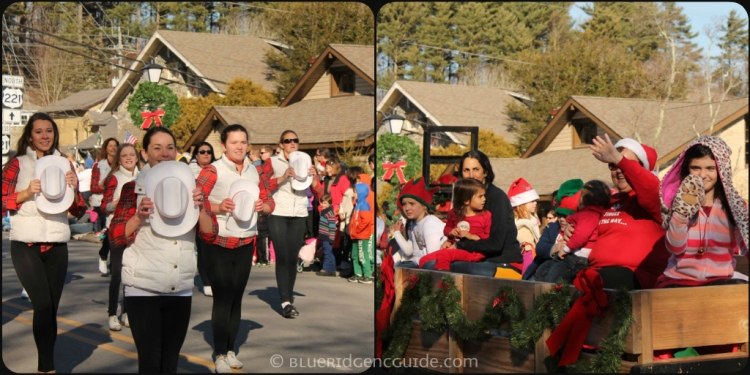 Cloggers from Appalachian Rhythm in the 2014 Blowing Rock Christmas Parade