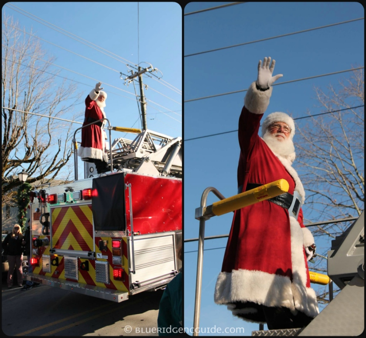Santa in the Blowing Rock Parade