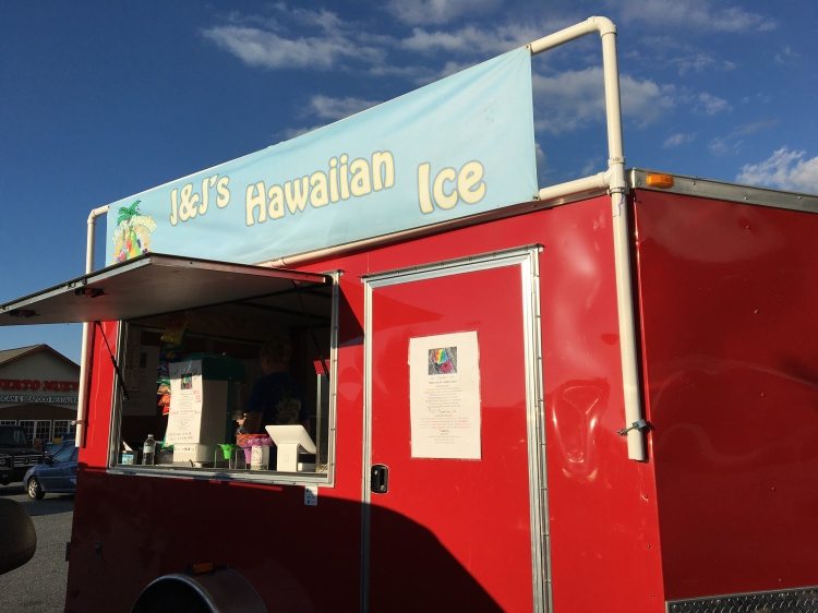 Look for the bright red trailer and get your sweet fix at J&J's Hawaiian Ice!